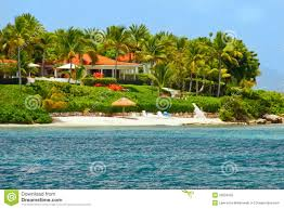 Vacation Home Plans Waterfront Beautiful Waterfront Home With Beach On Antigua Royalty Free Stock