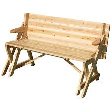 lovable wooden folding picnic table bench bench converts to picnic
