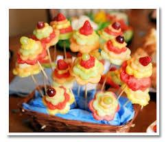 edible fruit arrangement ideas floral fruit bouquet made with flower shaped cookie cutters