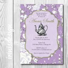 tea bridal shower invitation tea brunch bridal shower