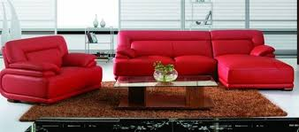 modern red leather sectional sofa with chair modern living
