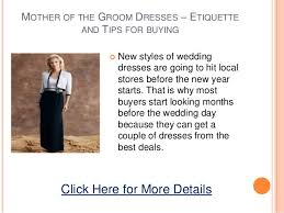 wedding etiquette dress code mother of the groom high cut