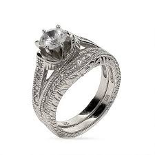vintage style engagement rings 6 mm cz wedding ring set in sterling silver eve u0027s addiction