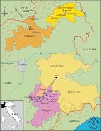 Piedmont Italy Map by Deforville U2013 Rosenthal Wine Merchant