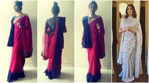 Draping Tutorial How To Wear Sonam Kapoor Double Pallu Saree 4 Double Drape