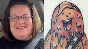 chewbacca mom u0027 gets a wookiee tattoo to commemorate her viral