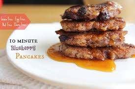 10 minute blueberry pancakes gf dairy free egg free nut free