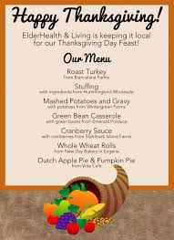 thanksgiving thanksgiving menu local mile meal healthy fresh