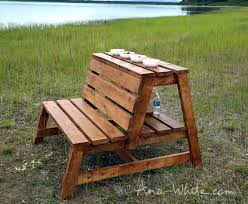 Deck Storage Bench Easy To Make Benches Have A Table And Storage Integrated Free
