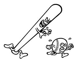 baseball bat chasing a ball coloring page coloringcrew com