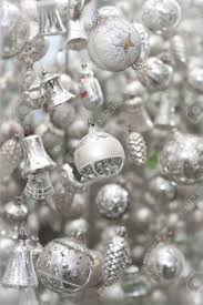 antique silver christmas tree decoration stock photo picture and