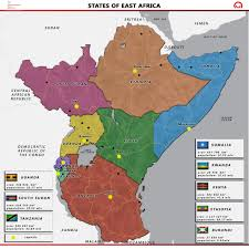 Map Of East Africa by Sub Saharan Africa Polish Aid