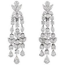 diamond chandelier earrings chandelier diamond earrings for sale at 1stdibs