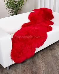 Red Rug Sheepskin Rug Sale Sheepskintown Com