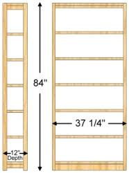 84 Inch Bookcase 12 X 84 X 36 Bookcase