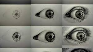 realistic eye sketches how to sketch an eye step step eyes people