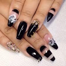 262 best black nails images on pinterest coffin nails