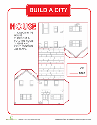 build a house free build a city house worksheets cities and city