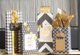 gold gift bags diy scrapbook paper gift bags atta girl says