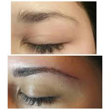 Semi Permanent Tattoo Eyebrows Semi Permanent Eyebrow Tattoo Microblading Before And After Yelp