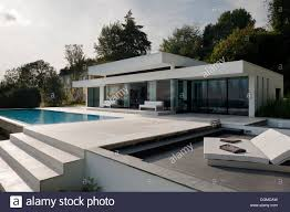 modern bungalow with infinity pool in the kent sussex borders