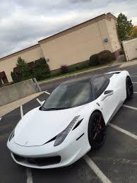 Ferrari 458 Black And White - ferrari 458 spyder matte white with satin black roof wrap