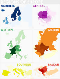 Map Central Europe by Regions Of Europe As Defined By Overlaying Multiple Maps From
