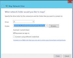 use map drive path visible for sql server backup and restore in ssms