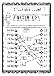 worksheets riddles jokes code crackers adding fun worksheets