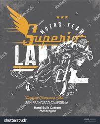 biker apparel biker motorcycle vector silhouette retro emblem stock vector