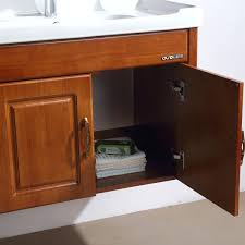 Wooden Mirrored Bathroom Cabinets Bathroom Vanities Solid Wood Construction Solid Wood Bathroom
