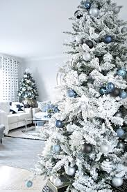 White Christmas Tree With Blue Decorations Blue Black And White Christmas Cuckoo4design