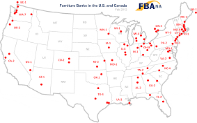 Us Map Images Furniture Bank Association Of North America Map Of Furniture Banks