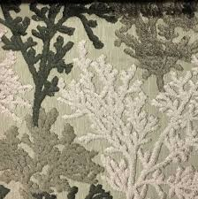 reef coral pattern cut velvet upholstery fabric by the yard