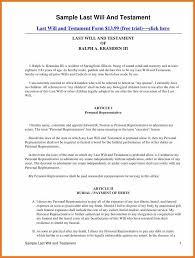 last will u2013 free last will and testament form document
