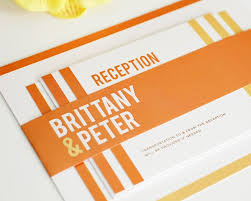 contemporary wedding invitations modern wedding invitation contemporary wedding invitation orange