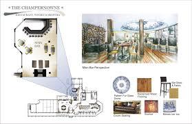 Hand Rendered Floor Plan Elizabeth Carters Interior Design Portfolio By Elizabeth Carter At