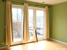Should Curtains Go To The Floor Decorating How To Make No Sew Black Out Curtains The Diy Playbook