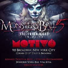 the monster ball nyc u0027s top rated halloween night party motivo