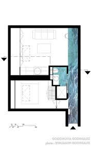 plan maison en u ouvert plan d u0027un appartement de 34m2 de surface plans pinterest