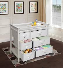 Badger Basket Baby Changing Table With Six Baskets Badger Basket Modern Baby Changing Table With Six Baskets White
