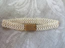 pearl bracelet with gold clasp images Multi strand unique woven seed pearl bracelet with antique gold jpg
