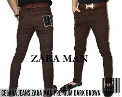 Celana Zara celana cowok brown zara rp160k size 28 34 informasi lebih