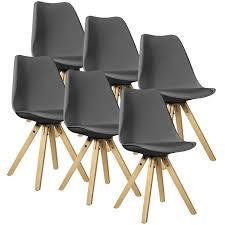 chaises rembourr es en casa 2x chaises de salle a manger gris rembourré salle à manger