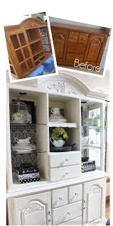 Annie Sloan Kitchen Cabinet Makeover Annie Sloan Chalk Painted Hutch For The Dining Room With Duck Egg