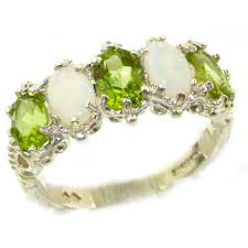 ebay rings opal images 9ct white gold peridot opal ring white gold rings gold jpg