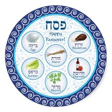 sader plate blue doily passover seder plate sticker zazzle