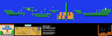 Super Mario World Map Mario Brothers 3 World 2 Airship Nintendo Nes Map Bg