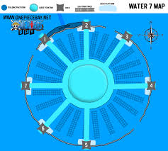 One Piece Map Information On Water 7