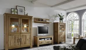 Wohnzimmerschrank Hochwertig Wohnwand Echtholz Wohnwand Aus Wildeiche Massivholz Teilig B